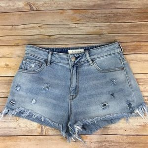 PacSun Denim distressed shorts